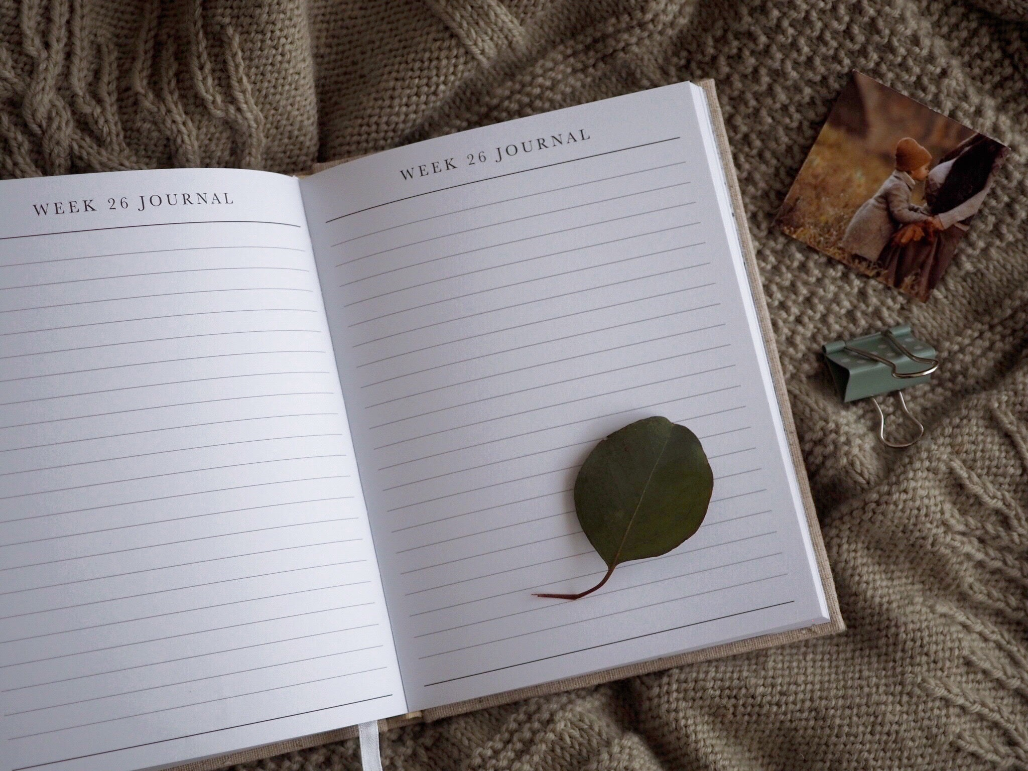 Write to me open journal - Bump linen baby journal