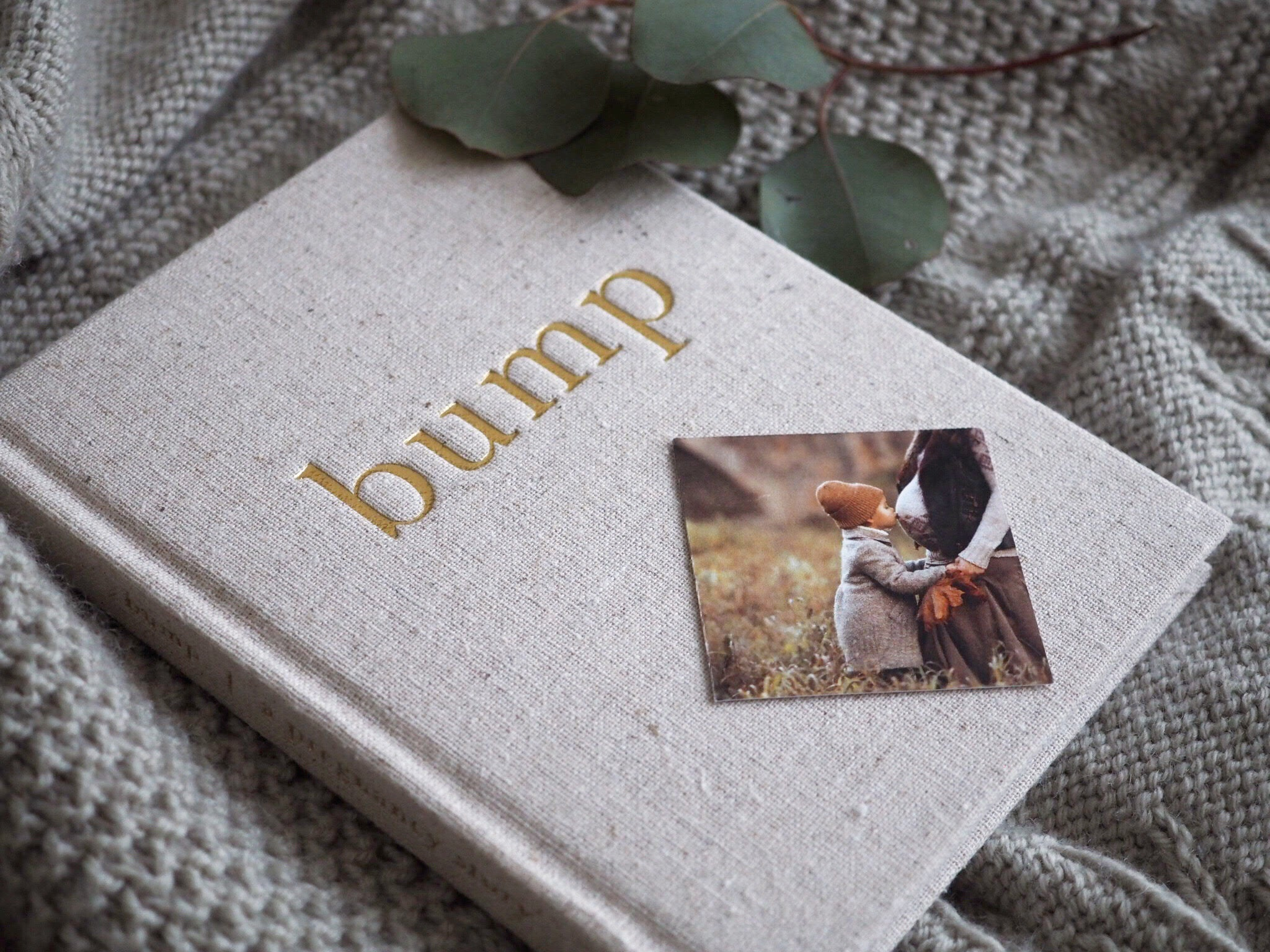 Write to Me linen baby journal - Bump a Pregnancy Story