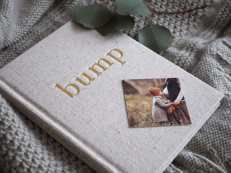 Write to Me Bump linen baby journal