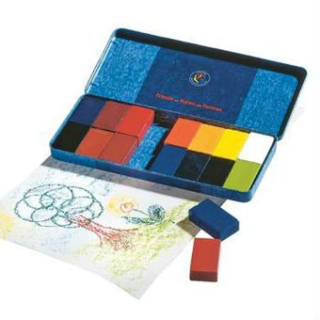 Stockmar Wax Crayons 16 Blocks in Tin