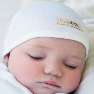 Loved Baby organic cotton cute cap - white