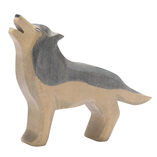 Ostheimer wooden animal - wolf howling