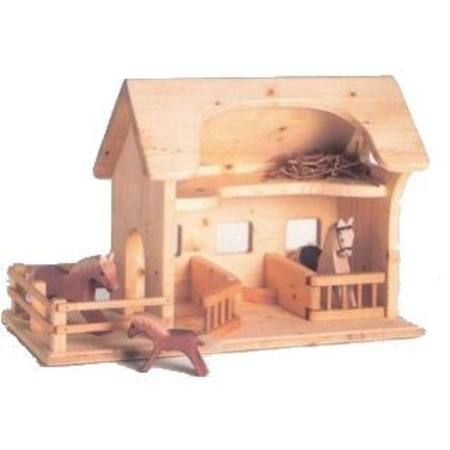 Drei Blatter Wooden Doll House Farm Stable