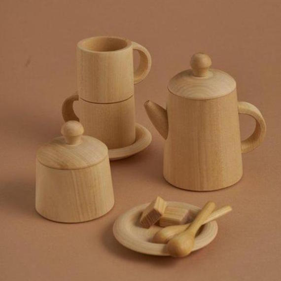 Raduga Grez wooden tea set - natural