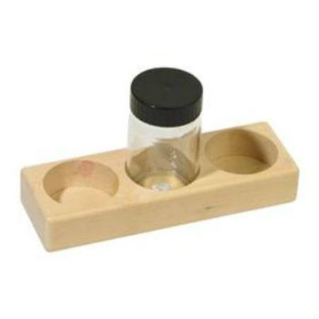Wooden Paint Holder with 3 Glass Jars - 100ml