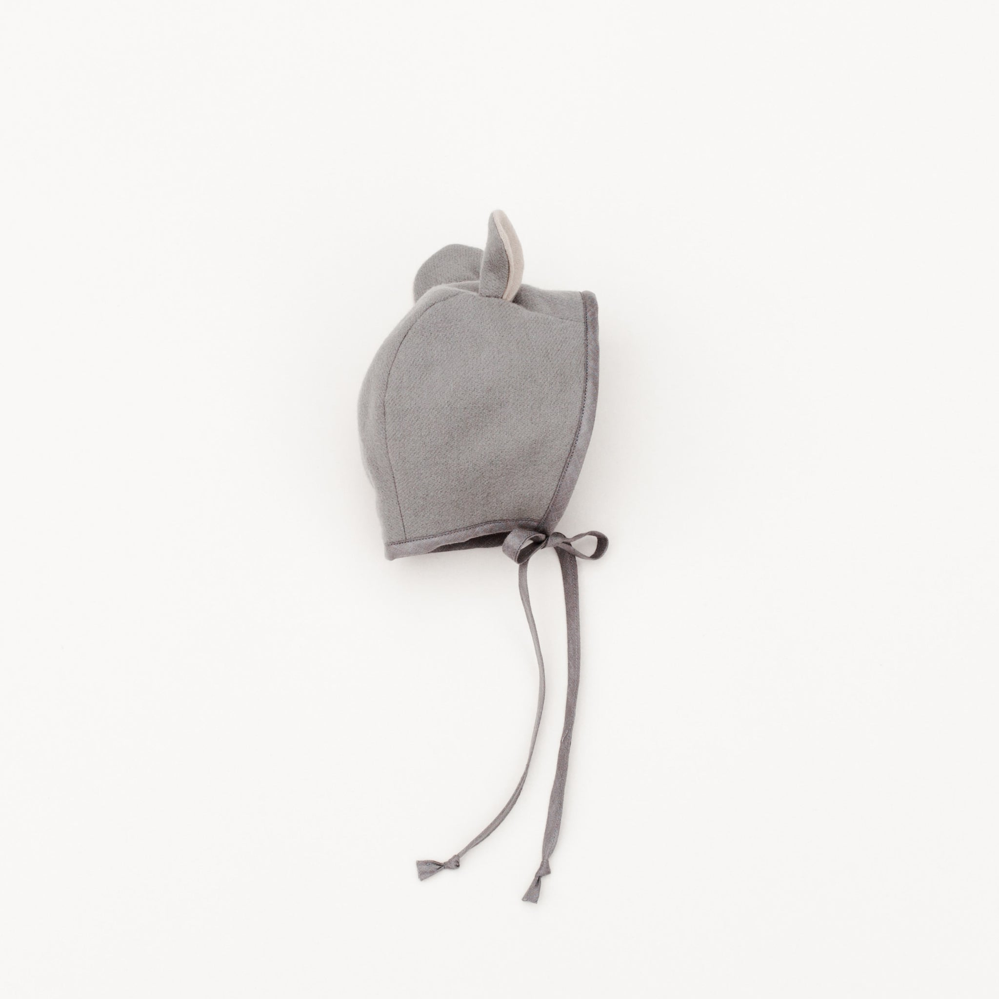 Briar Handmade natural wool mouse bonnet in grey