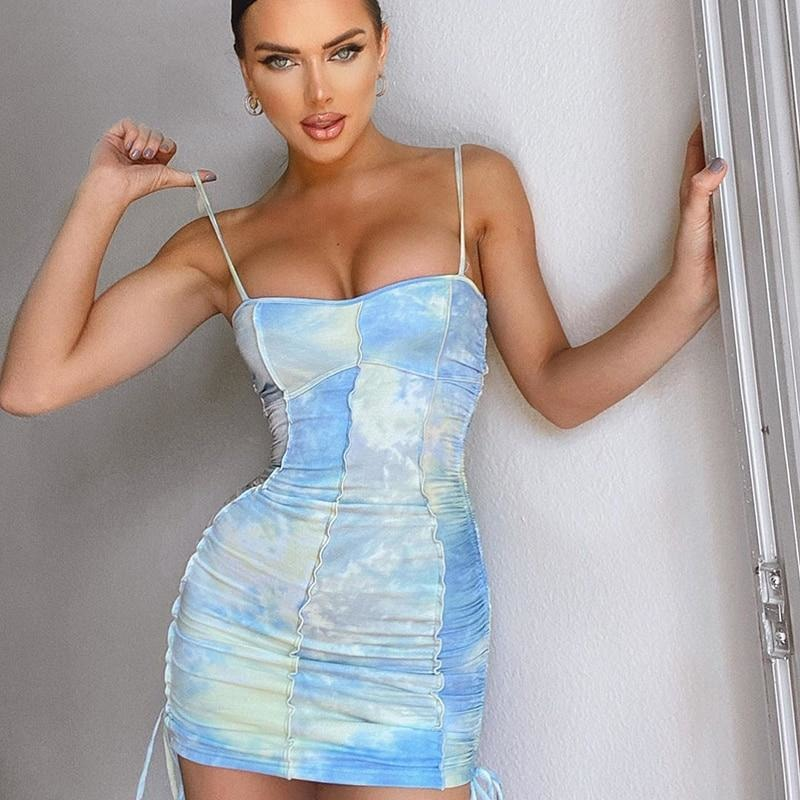 Alexis Tie Dye Mini Dress - At Boujee's