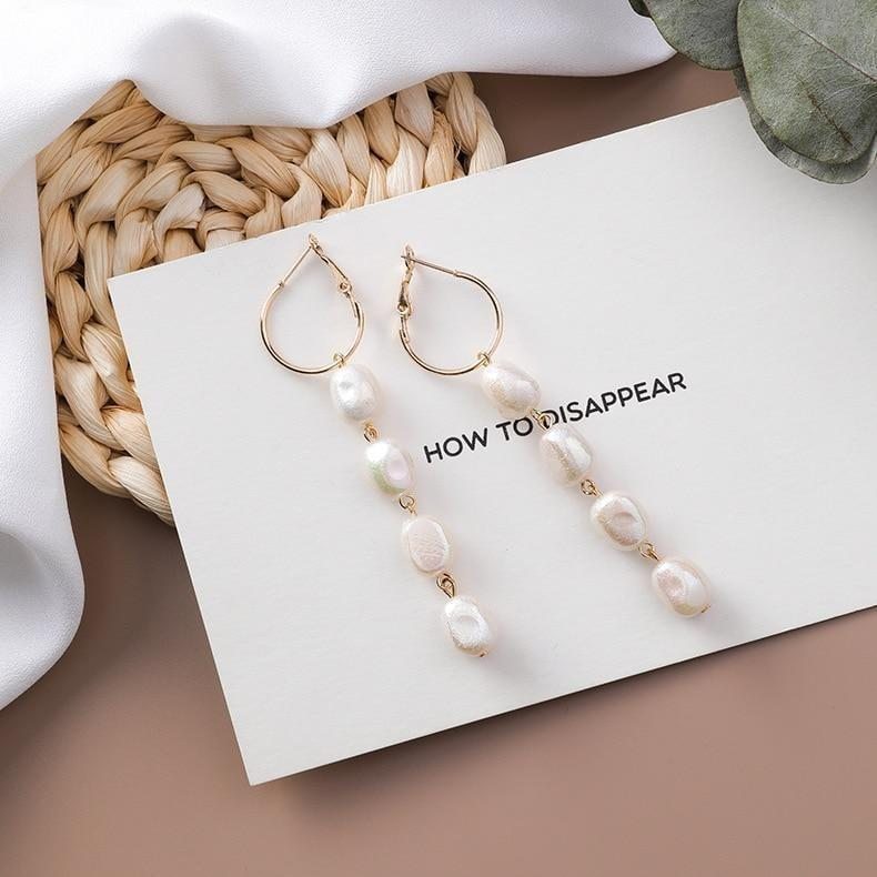 Pearl Drop Earring - At Boujee's