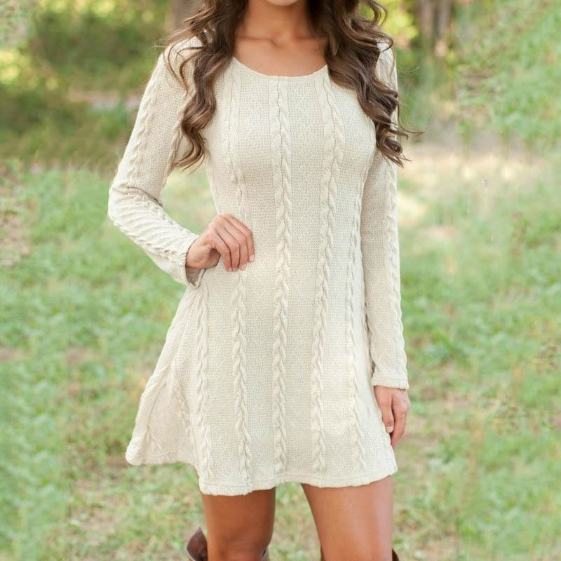 Ariah Knitted Long Sleeve Dress
