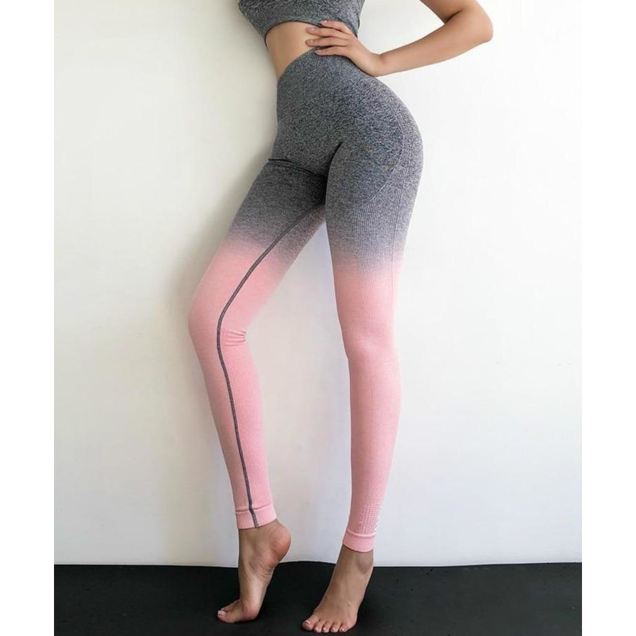 B|Fit Seamless Ombre Legging - Grey Pink - At Boujee's