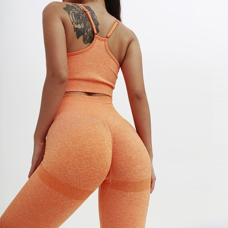 B|Fit TEMPO Sports Crop - Tangerine - At Boujee's