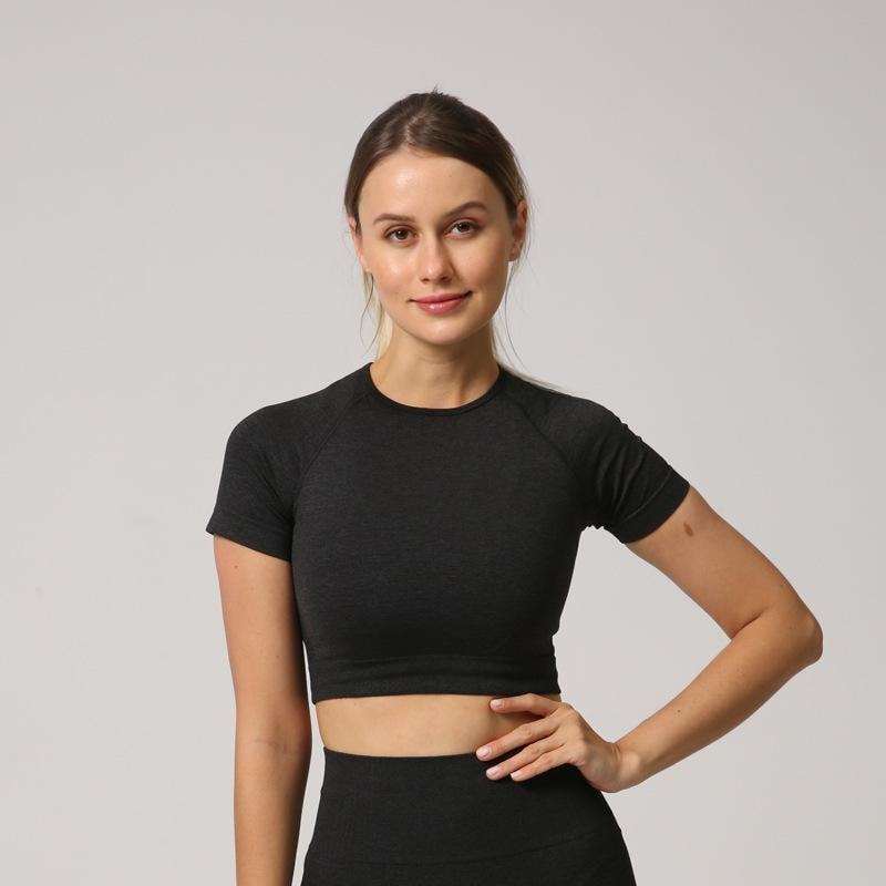 B|Fit Velocity Cropped Tee - Black - At Boujee's