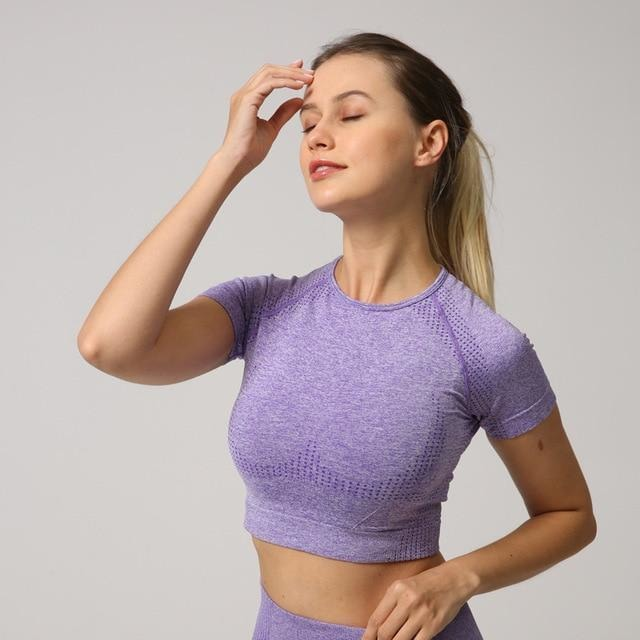 B|Fit Velocity Cropped Tee - Purple - At Boujee's