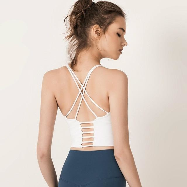B|FitSeamless Sculpt Sports Crop - White - At Boujee's