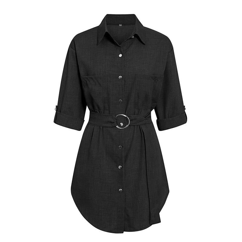 Blake Sexy Shirt Dress - At Boujee's