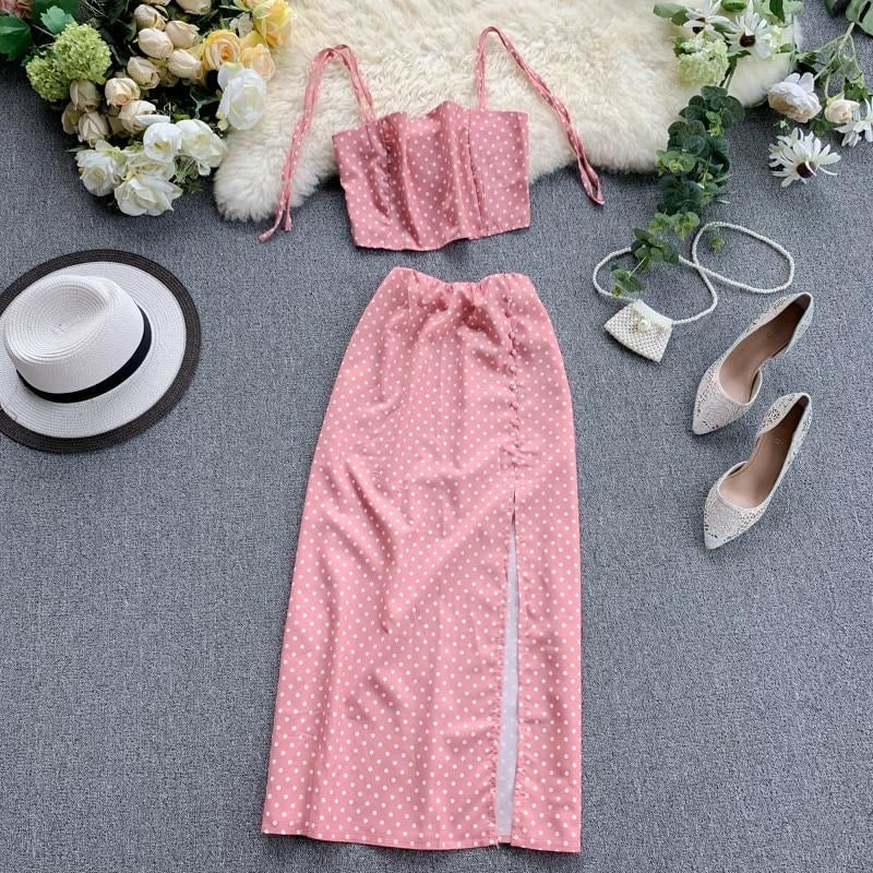 Candy Pink Two Piece Set
