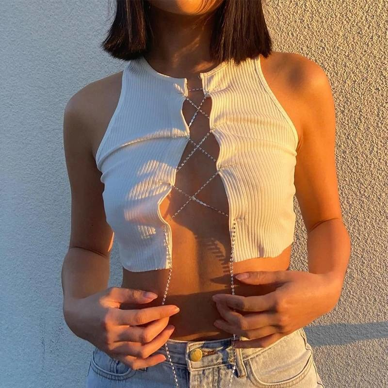Chain Bralette - At Boujee's
