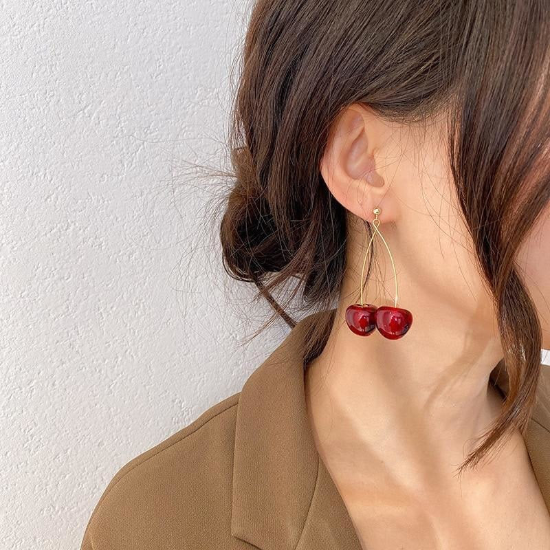 Cherry Earrings - At Boujee's