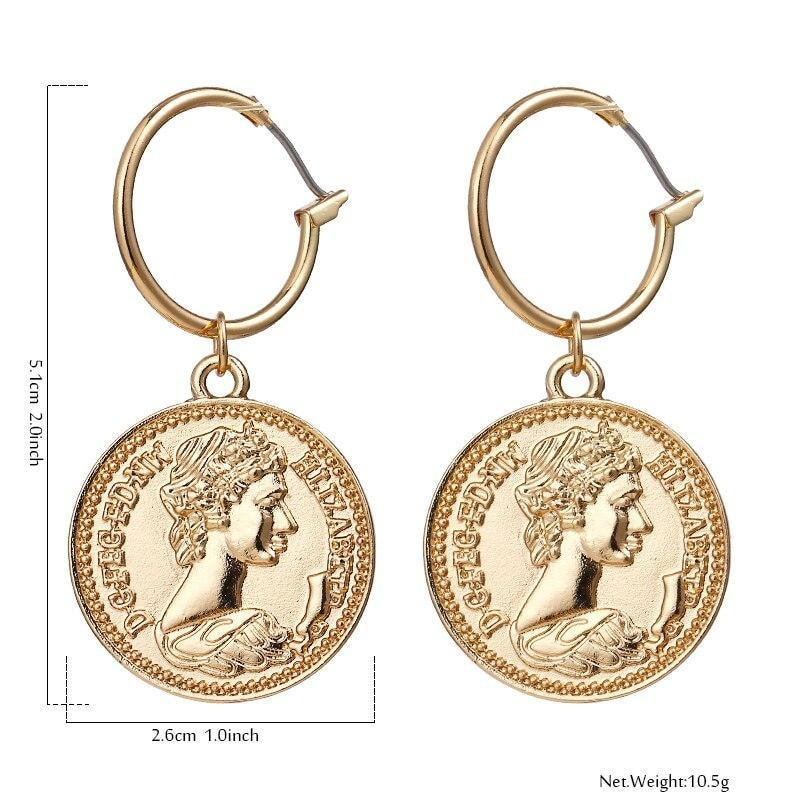 Coin Earrings - At Boujee's