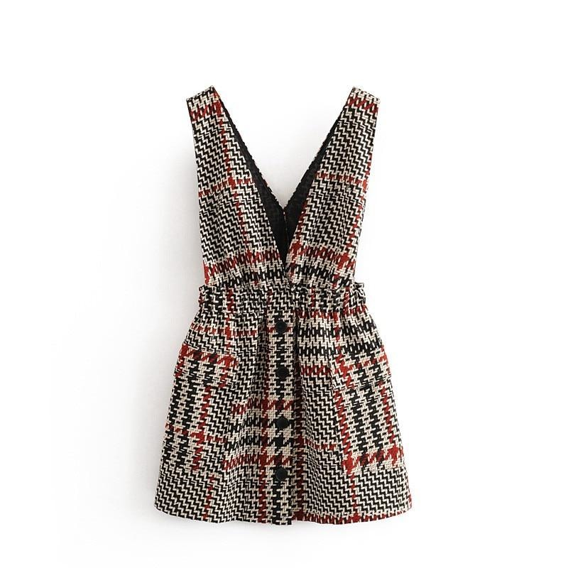 Cora Plaid Mini Dress