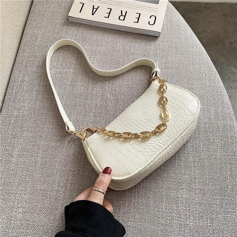 Croc Pattern Shoulder Bag - At Boujee's