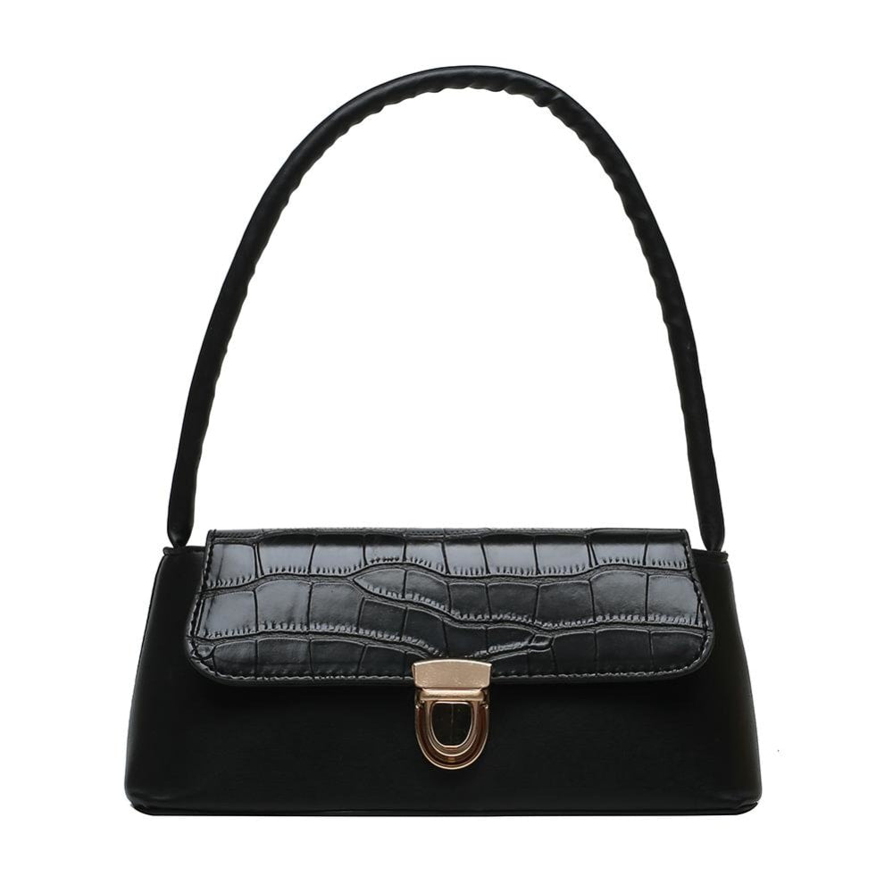 Croc Pattern Shoulder Tote