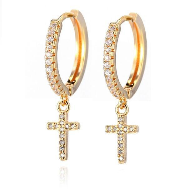 Cross Earrings - At Boujee's