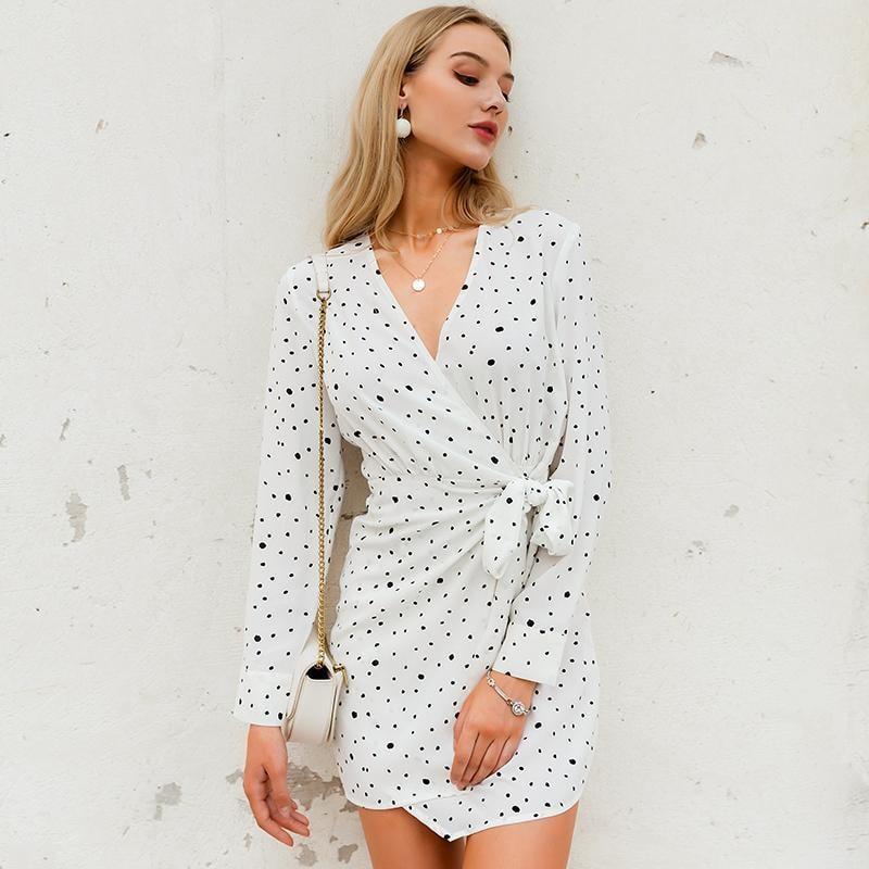 Darcy Polka Dot Mini Dress - At Boujee's