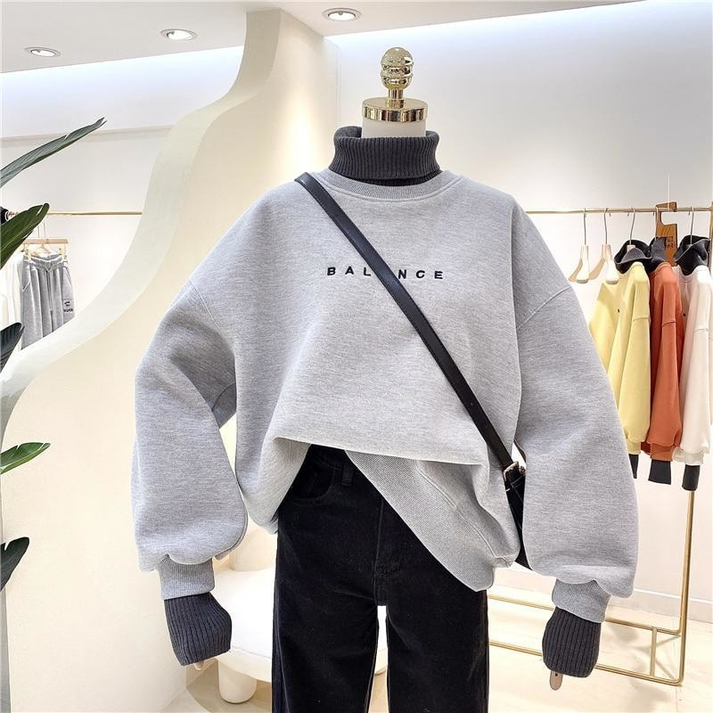 Double Layer Turtleneck Sweater