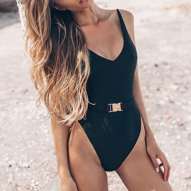 Estelle High Cut One Piece - At Boujee's