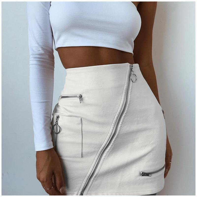 Vintage Faux Leather Body-con Stretch Pencil Skirt - At Boujee's