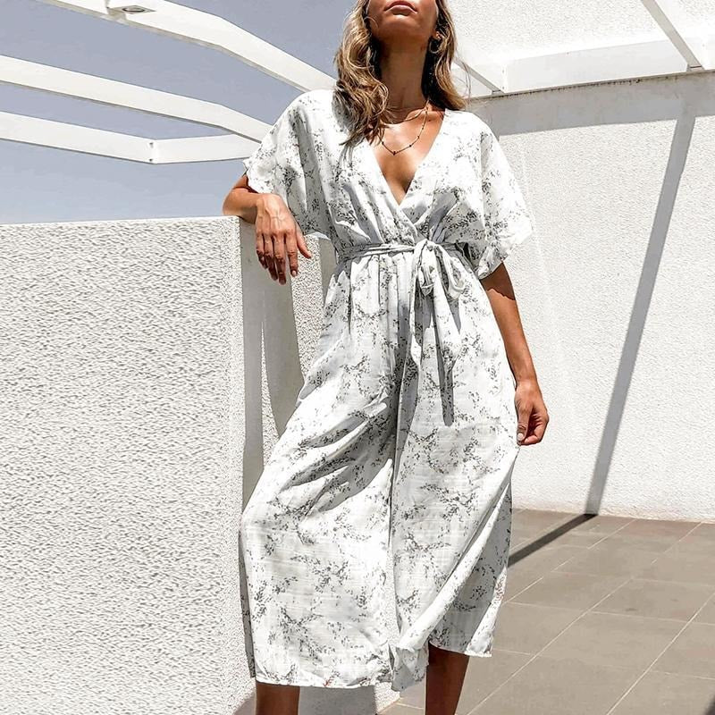 Felicity Deep V Jumpsuit - At Boujee's