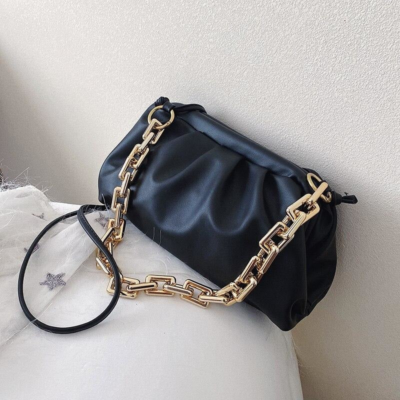 Gold Chain Bag - At Boujee's