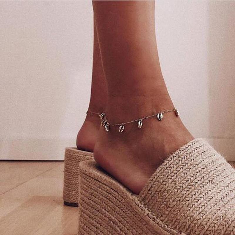Golden Seashell Anklet - At Boujee's
