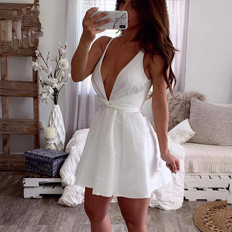 Grace Backless Mini Dress - At Boujee's