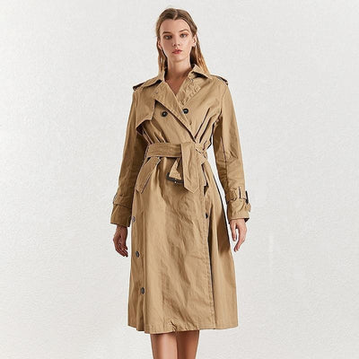Hanna Double Breasted Belt Coat - At Boujee's