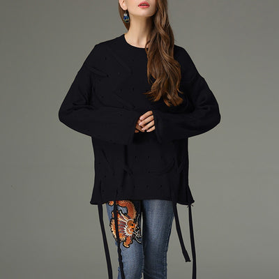 Hanna O Neck Loose Sweater - At Boujee's