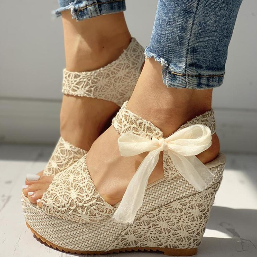 High Lace Wedges