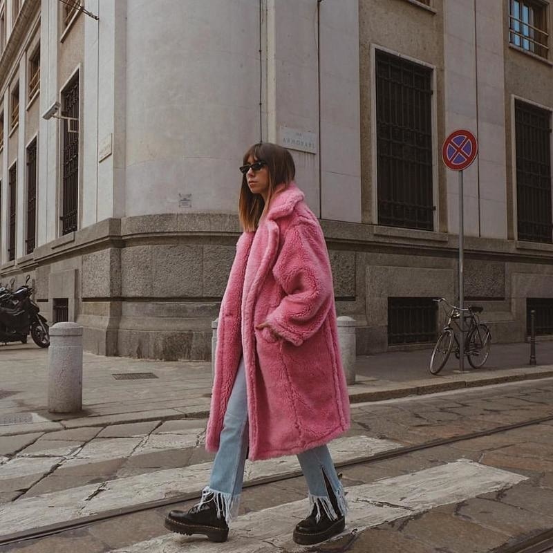 Hot Pink Teddy Coat