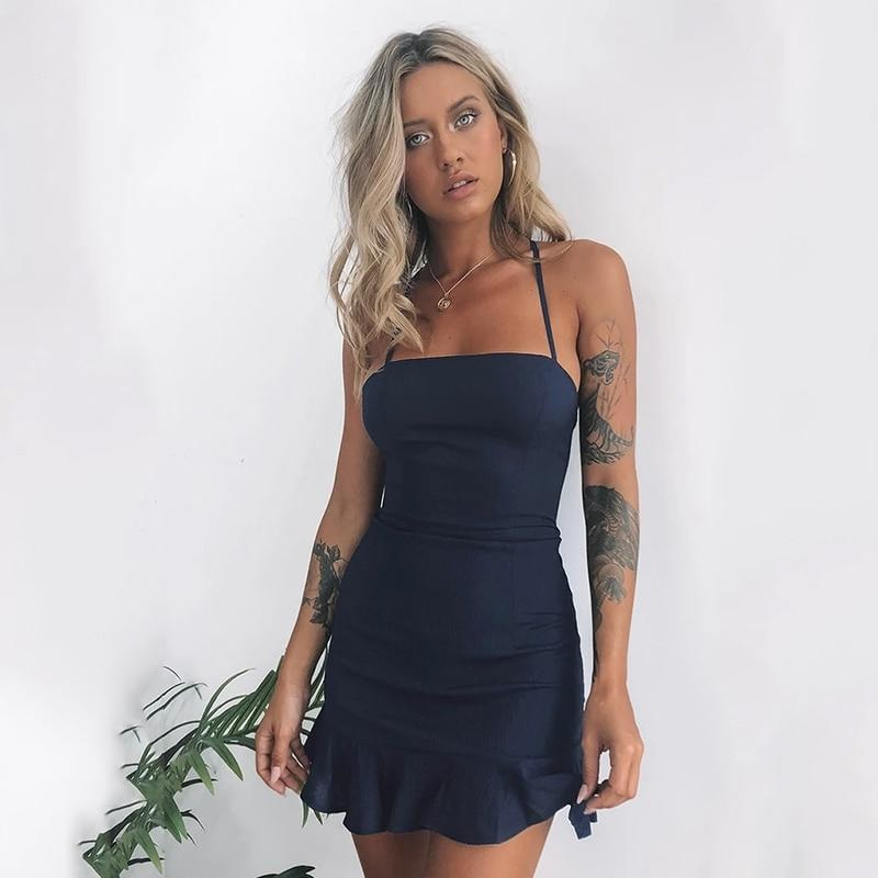 Isabella Navy Dress