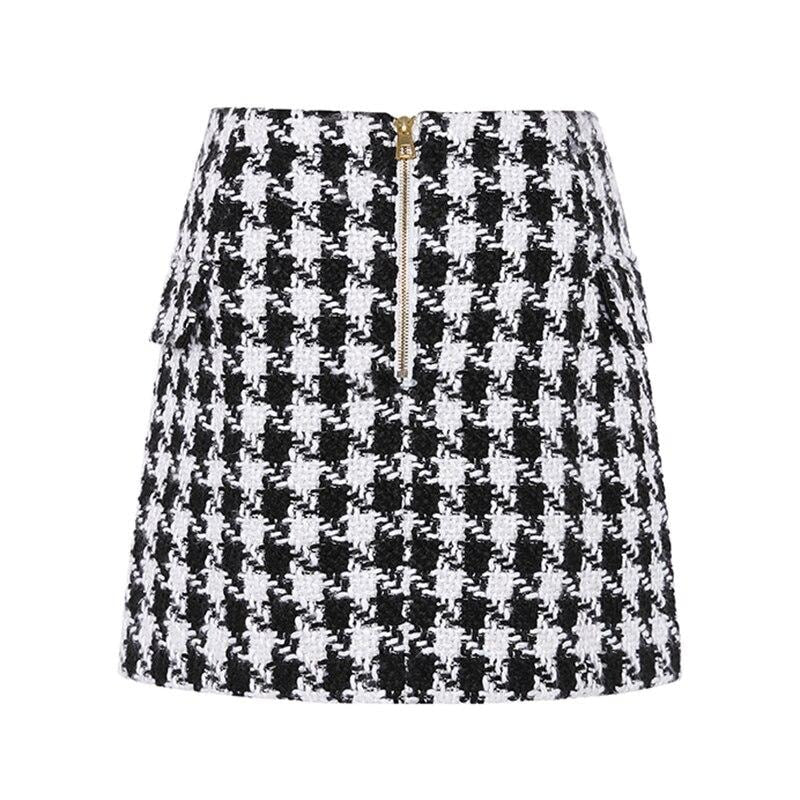 Jewel Plaid Skirt
