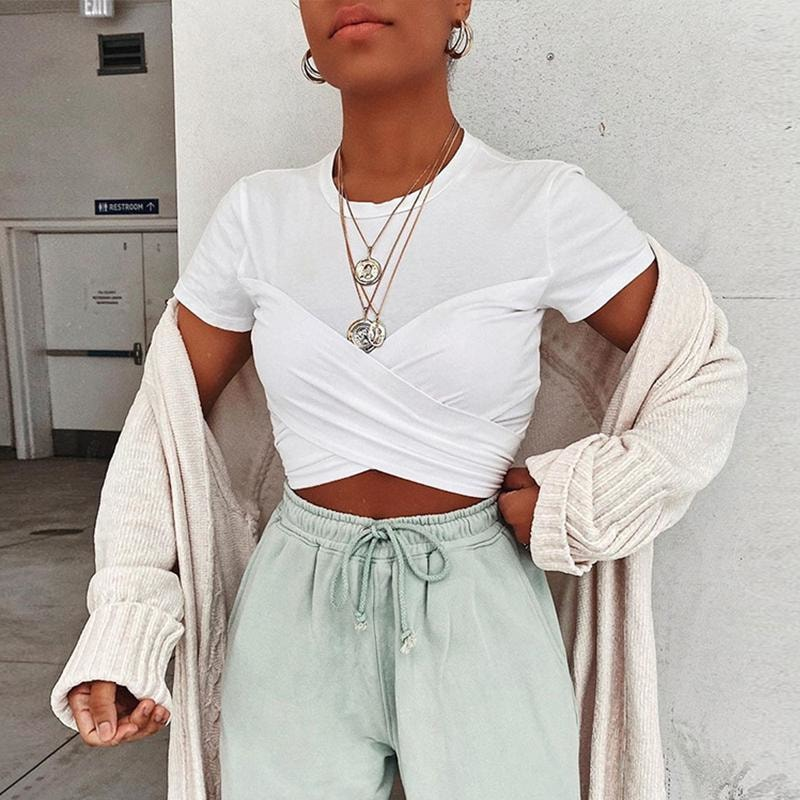 Kaia Crop Top - White - At Boujee's