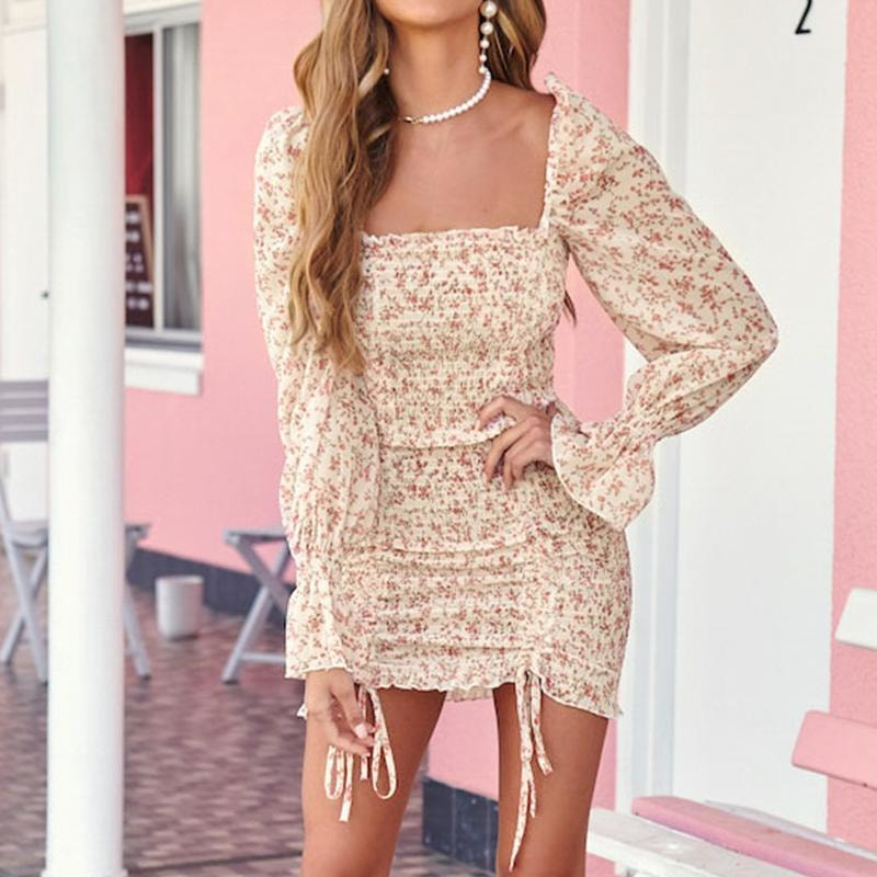 Karly Floral Mini Dress - At Boujee's