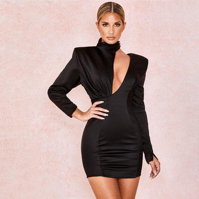 Kathryn Satin Mini Dress - At Boujee's
