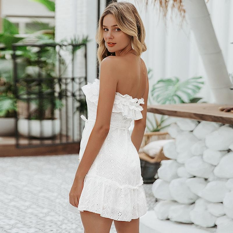 Kristen Strapless Mini Dress - At Boujee's