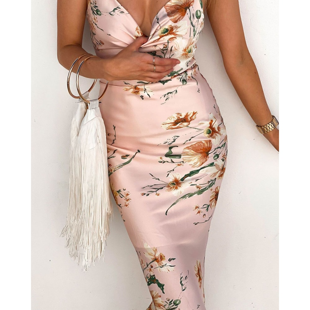 Laila Bodycon Floral Dress - At Boujee's