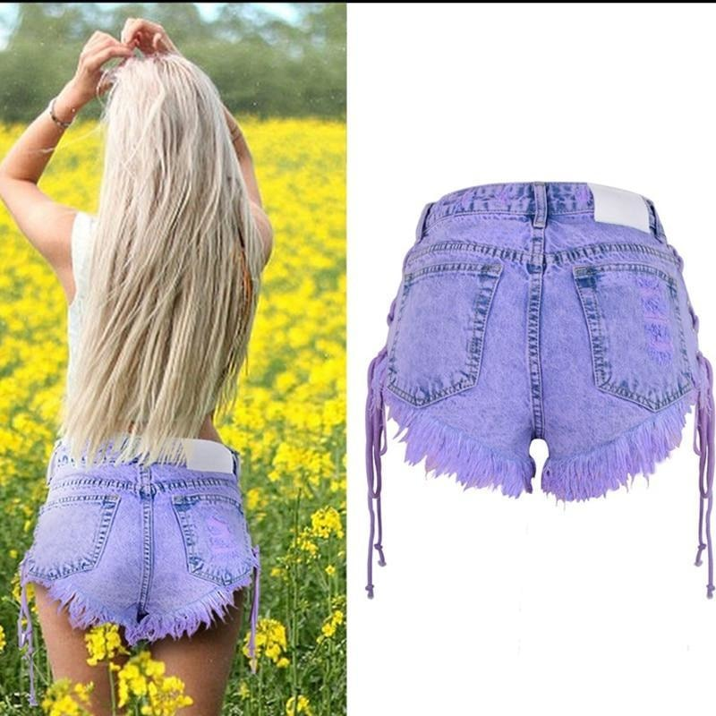 Liliac Denim Shorts - At Boujee's