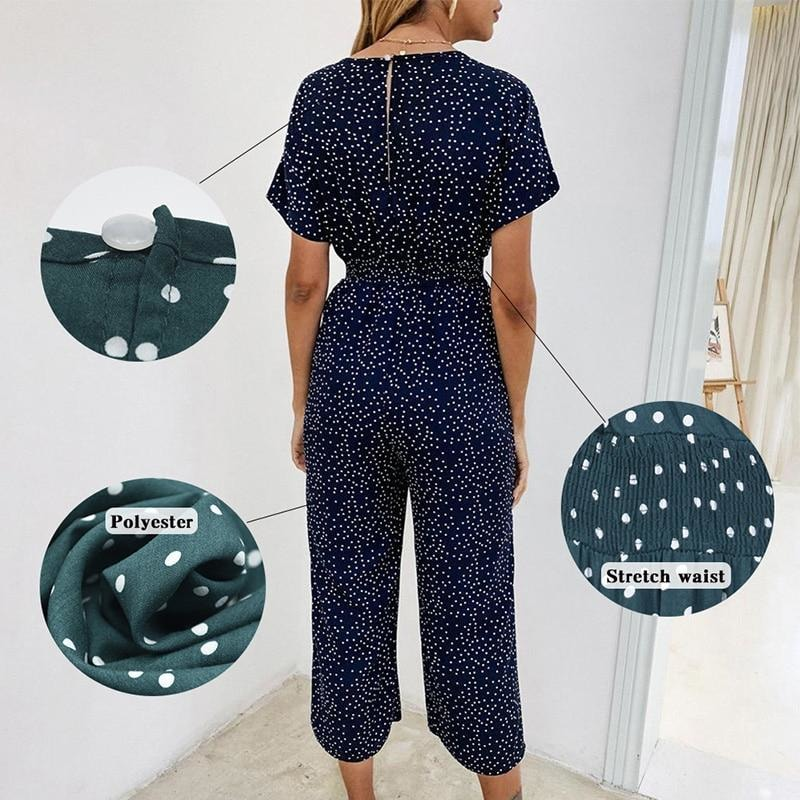 Loose Dotted Jumpsuit