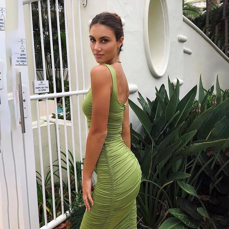 Madeleine Bodycon Midi Dress - At Boujee's