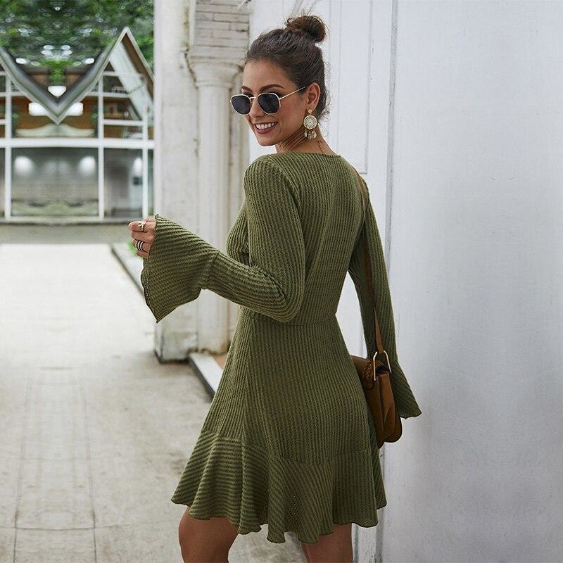 Maisie Flare Sleeve Knitted Dress